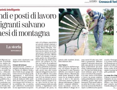 """Articolo tratto da """"La Stampa"""" del 30/07/2017"""